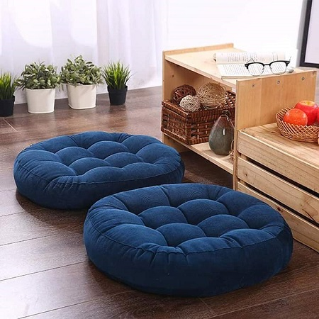 Large Floor Pillow Fibre Filled Round Pouf