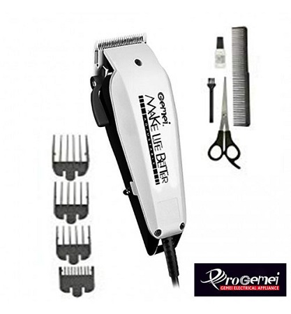 Gemei GM-1022 - Professional Electric Hair Clipper Hair Shaver - White & Black