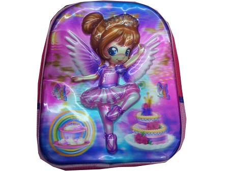 Back to School Kid's Bag/Backpack - Ice Girl Theme pink one size