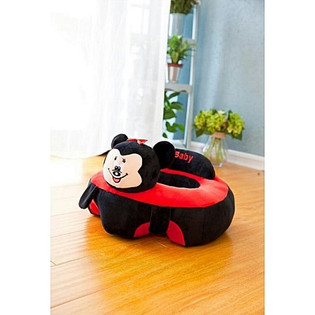 Sit Me Up Baby Pillow Trainer - black and red