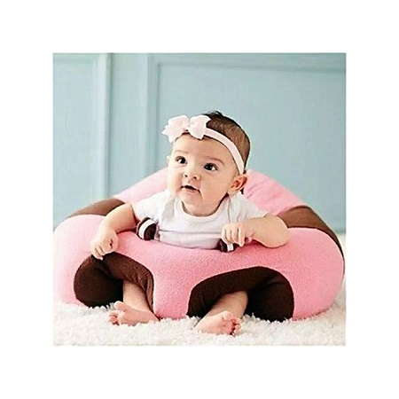 comfy Baby Support Sit Me Up Pillow(pink and brown theme)