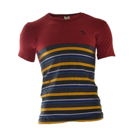 Abercrombie & Fitch Red T-shirt With Patterns At The Bottom