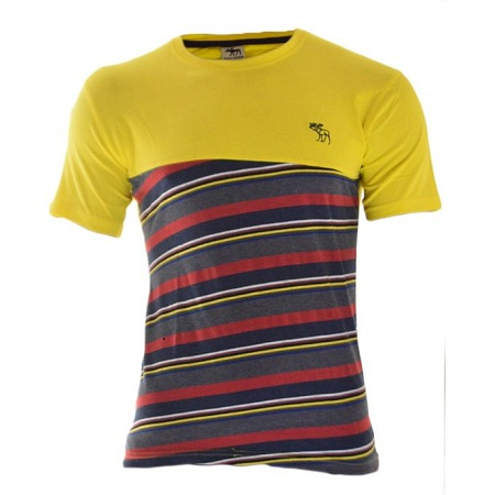 Abercrombie & Fitch Yellow T-shirt With Patterns At The Bottom