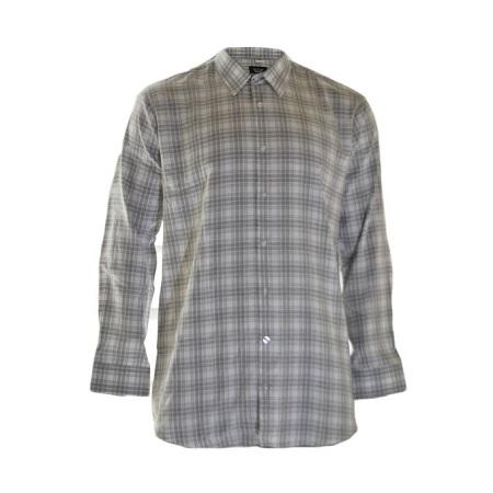 Grey And White Checked Design Shirt