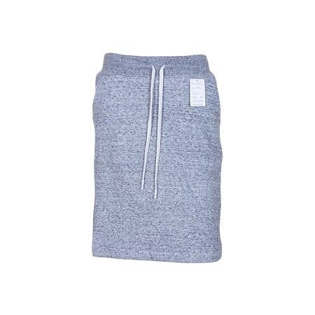 Grey Sweat Skirt With Slit