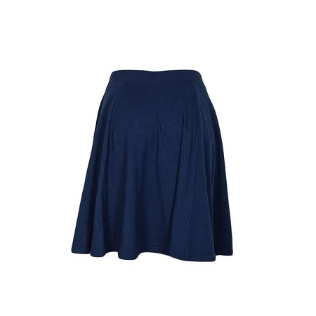 Navy Blue Flare Skirt