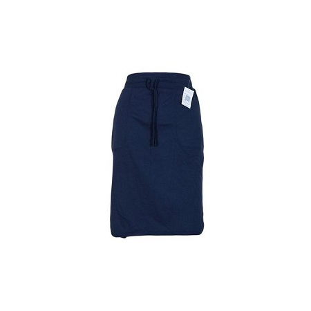 Sweat Skirt With Side Slits Navy Blue