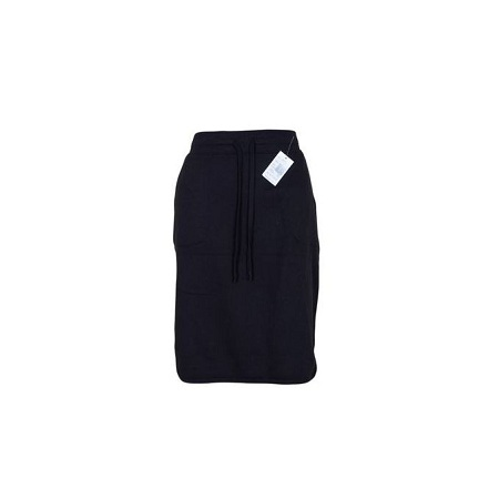 Sweat Skirt With Side Slits Black