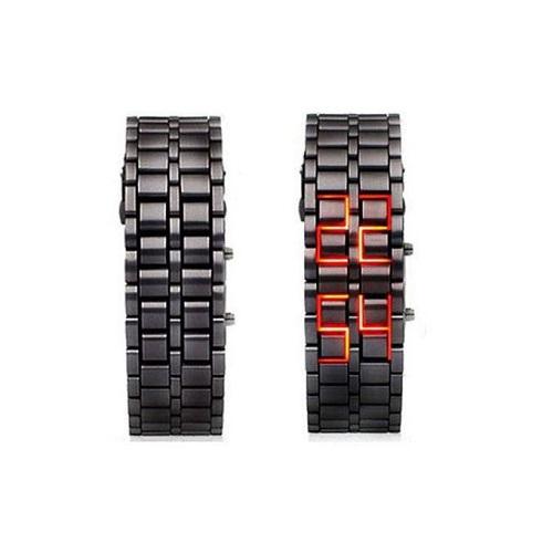 Fashion Luxury Full Metal Digital Lava Wrist Watch- Unisex