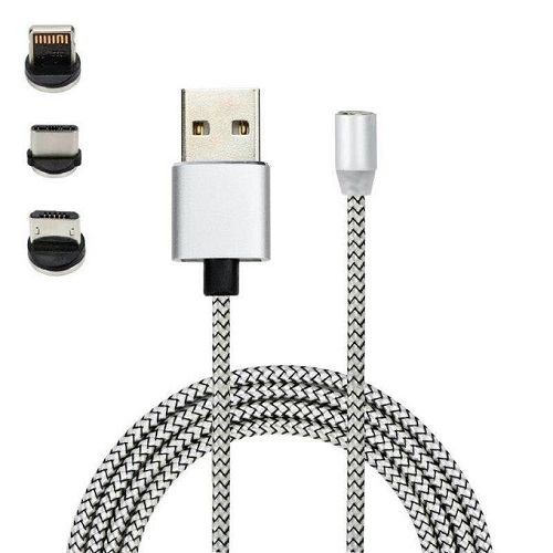 Magnetic USB Magnet Cable 3 In 1 Cord For IPhone And Android Type C Micro USD For Universal Devices