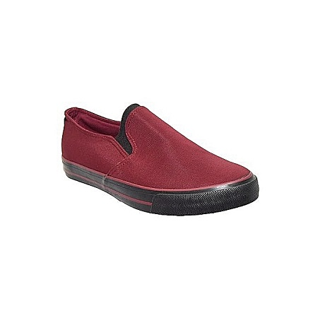 Generic Men's Maroon Canvas Shoes
