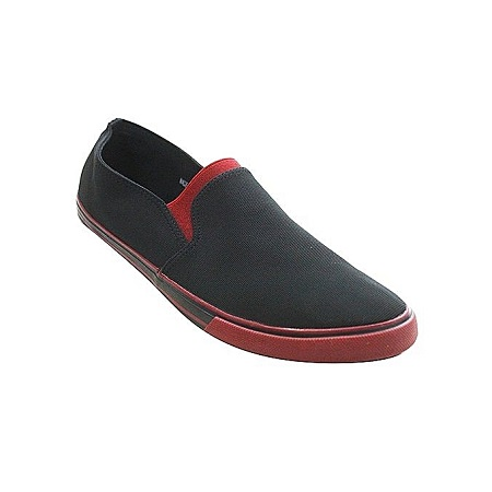 Generic Milan Black & Red Sneakers