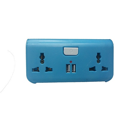 USB Way Socket Extension Cable - Blue