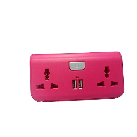 USB Way Socket Extension Cable - Pink