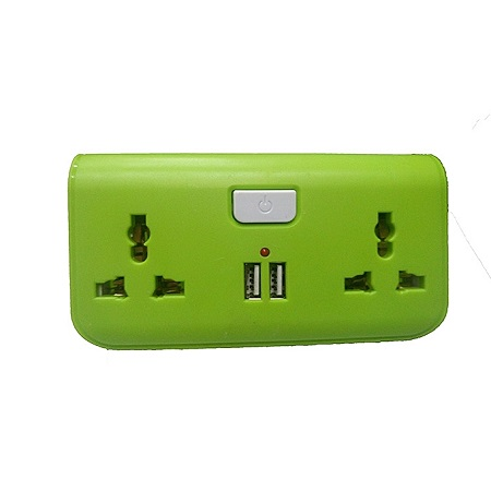 USB Way Socket Extension Cable - Green