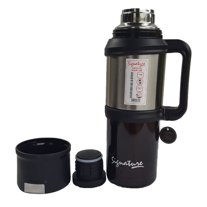 Signature Non Breakable Vacuum Flask-1.2ltrs Black