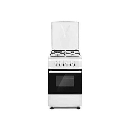 SOLSTAR SO631F-EWHB SS: 60cm Free Standing Cooker - 3 Gas + 1 Hotplate - White