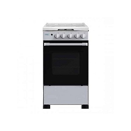 SOLSTAR SO112G-GGRBKBSS: 55*50cm Free Standing Cooker - 4 Gas Burners - Black