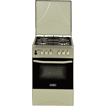 SOLSTAR SO 540F-GINB SS: 50cm Free Standing Cooker - 4 Gas Burners - Inox