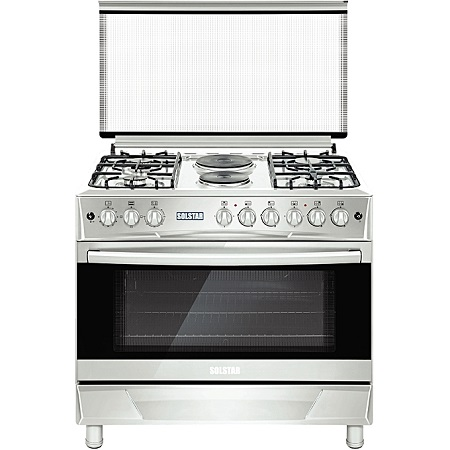 SOLSTAR SO 942F-EINB SS: 90cm Free Standing Cooker - 4 Gas + 2 Hotplates - Inox