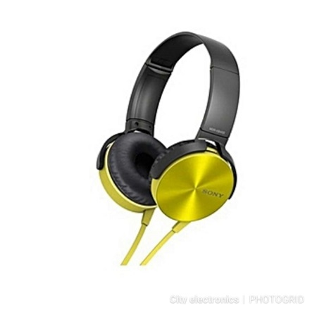 Sony MDR - XB450AP - Extra Bass Headphones - Yellow