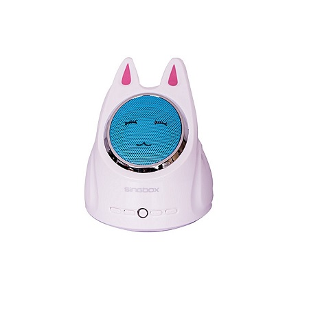 WHITE & BLUE Cute rabbit FM radio, support USB, AUX