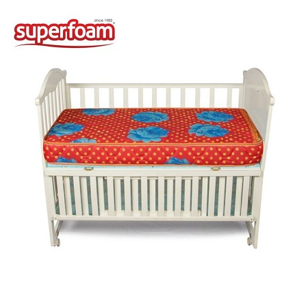 Superfoam Multi-Colored Baby Cot Mattress (Foam Medium Density, Firm) 48