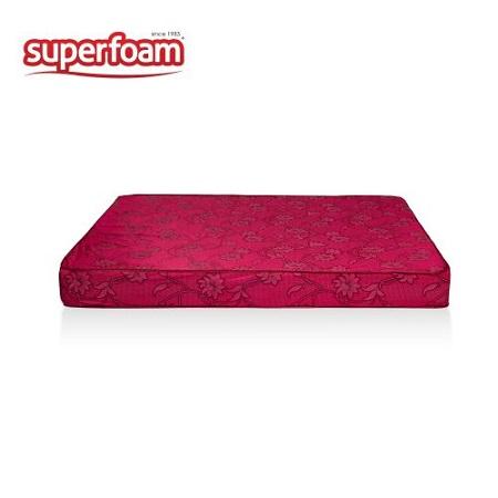 Superfoam High Density Plain Foam Mattress - MAROON