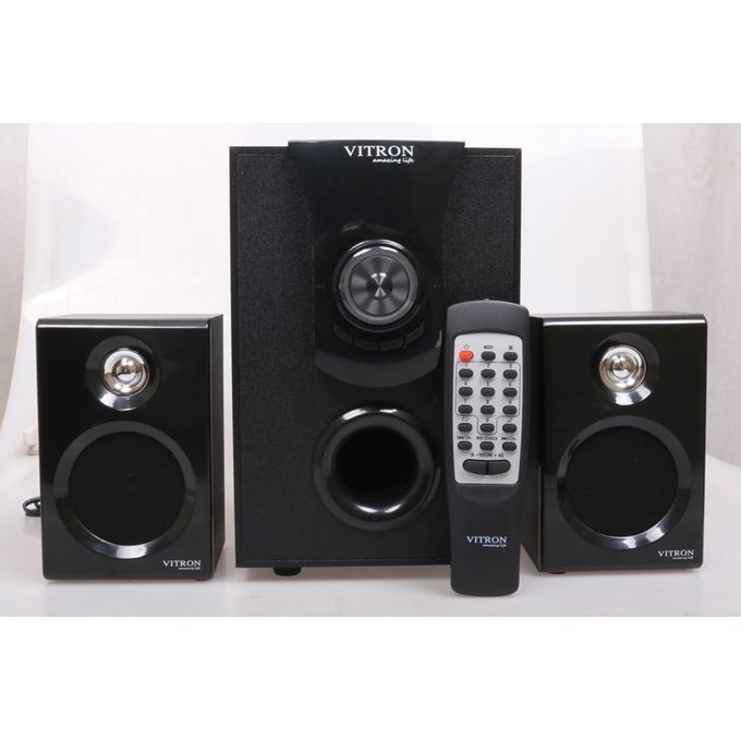 Vitron 2.1CH Subwoofer Speaker-AC/DC,BT,FM,SD,USB