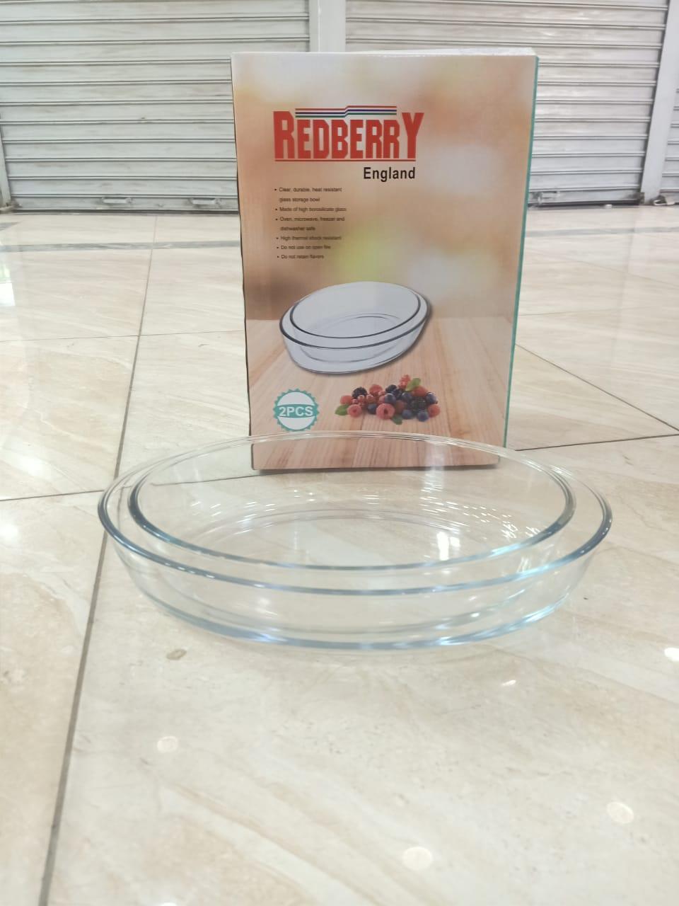 Redberry 2PCS Glass Plate Set