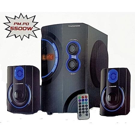 TAGWOOD Mp-76 Multimedia 2.1 Subwoofer With Bluetooth- 5500W PMPO - USB/SD/FM DIGITAL RADIO