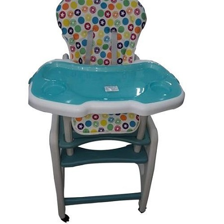 Convertible 2in1 baby high chair/Feeding chair WITH LOCKABLE WHEELS - Blue