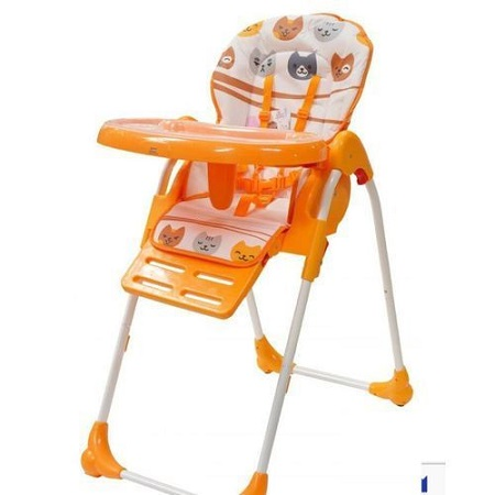 Feeding Chair/Adjustable high chair/ portable kids high chair- Orange