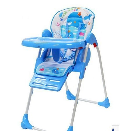 Feeding Chair/Adjustable high chair/ portable kids high chair- Blue
