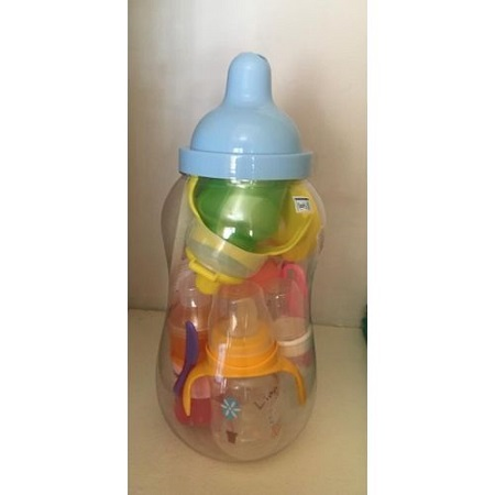 Mom Easy Baby Bank/ Feeding Bottle Set-10 Pieces