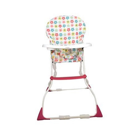 Pink baby feeding/ high chair - Fold-away Baby High Chair .