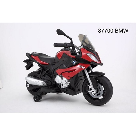 Bmw Safety electric motorcycle children ride on toy car with MP3 SD and led light -Red