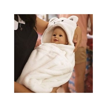 Generic Baby Hooded Blanket- Unisex, Warm ,Super Soft and Comfortable