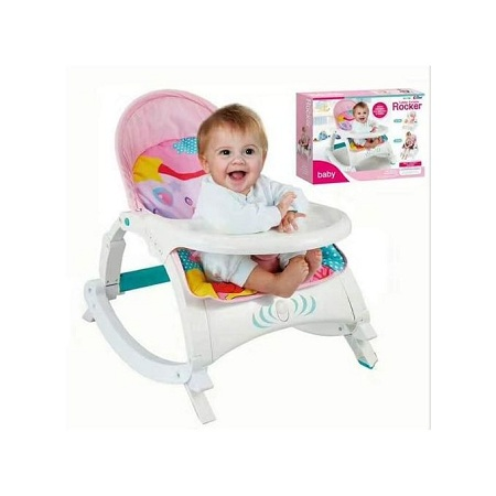 Generic 2 in 1 Baby Rocker/Dining set(0-3 years) - Pink