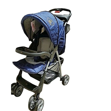 Generic Baby Stroller/ Foldable Pram Portable Baby Stroller With Universal Casters- Blue