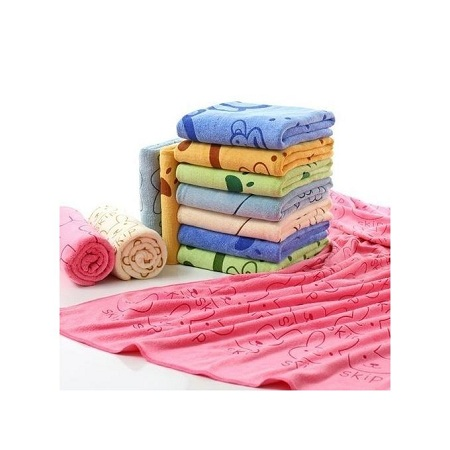 Generic Baby Towel Cotton Cartoon Animal Baby Bath Towel Bathrobe for Kid Soft Breathable Towels Infant Shower Product- PINK