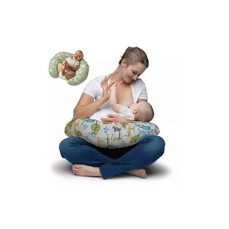 Generic Breastfeeding Pillow - Multicolor -one size