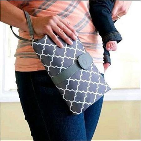 Generic Diaper Changing Clutch Bag(BLACK)