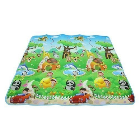 Generic 120 X 180cm Double-sided Soft Foam Play Crawling Mat Baby Kids Toddler Blanket - Colormix