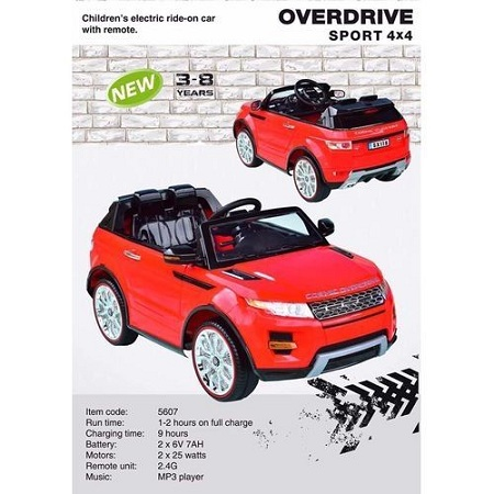 Generic Kids Overdrive Sport 4*4 (Range Rover Hse Sport Style) 6 V Electric Car (3-8yrs)