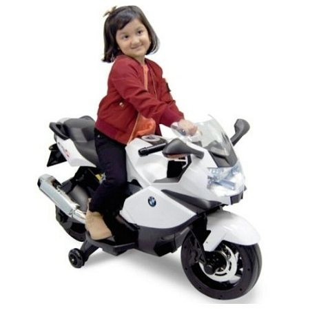 Generic MEDIUM Children's Classic Ride-On Motorcycle-WHITE(Assembled)