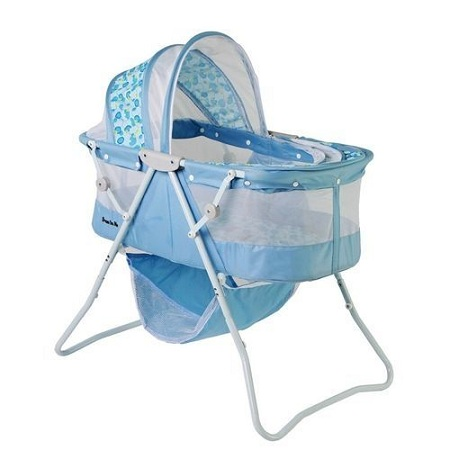 Generic Metal Baby Crib/Baby Bed/Bassinet with a Zipper(blue)