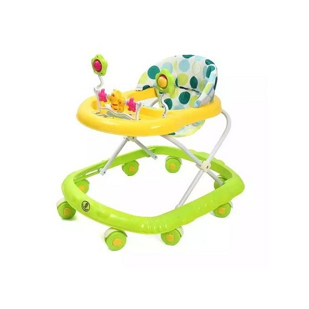 Generic Multi-functional Beautiful Baby Walker - Green and Yellow