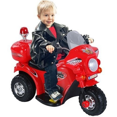 Generic Small Size Kid's Ride On Motorcycle-RED(Assembled)