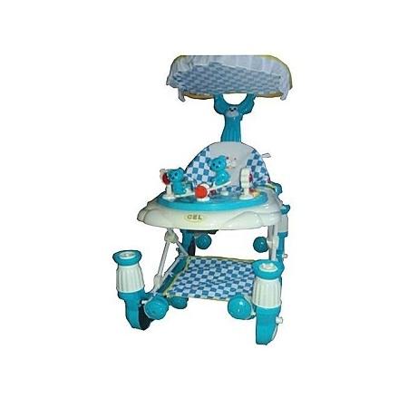 Generic Superior 3 in 1 Baby Walker/Rocker with Parent handle/umbrella- Blue